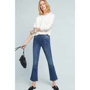Pilcro Utility High-Rise Croped Bootcut Jeans